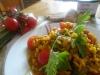 Risotto con zucchine fiori di zucca e zafferano 1