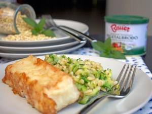 Merluzzo con insalata di grano, zucchine e menta 2