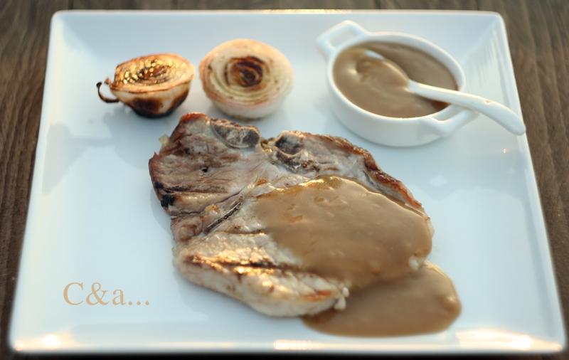 Lombo con salsa e cipolline alla griglia 2