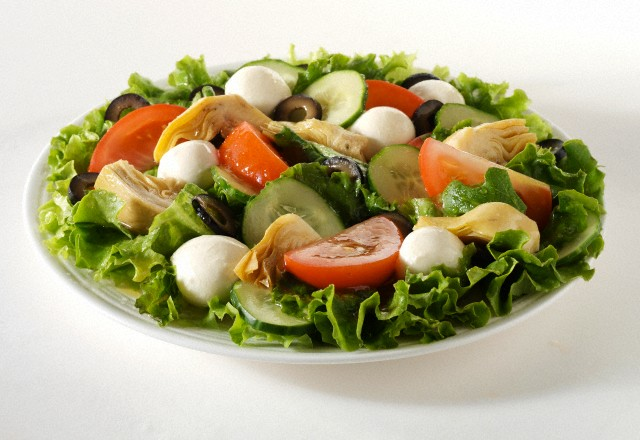 insalata con pomodori e mozzarella