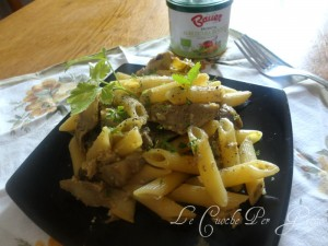 Pasta alla arbonara e carciofi