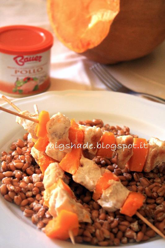 farro-spiedini-pollo-zucca