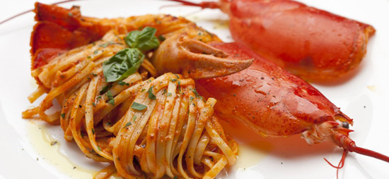 Natale, linguine all'astice