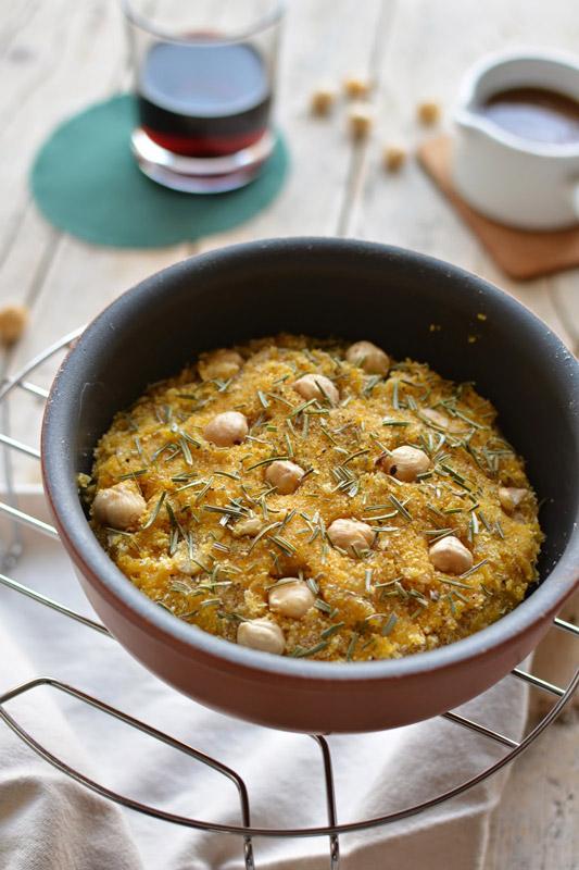 Frico panato con salsa di funghi e tartufo