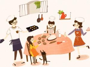 famiglia-cibo-cucina