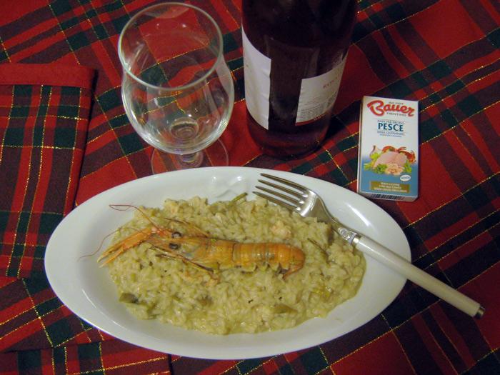 risotto-scampi-carciofi-dado-pesce