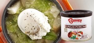 Zuppa di verza e fontina con Granulare Funghi