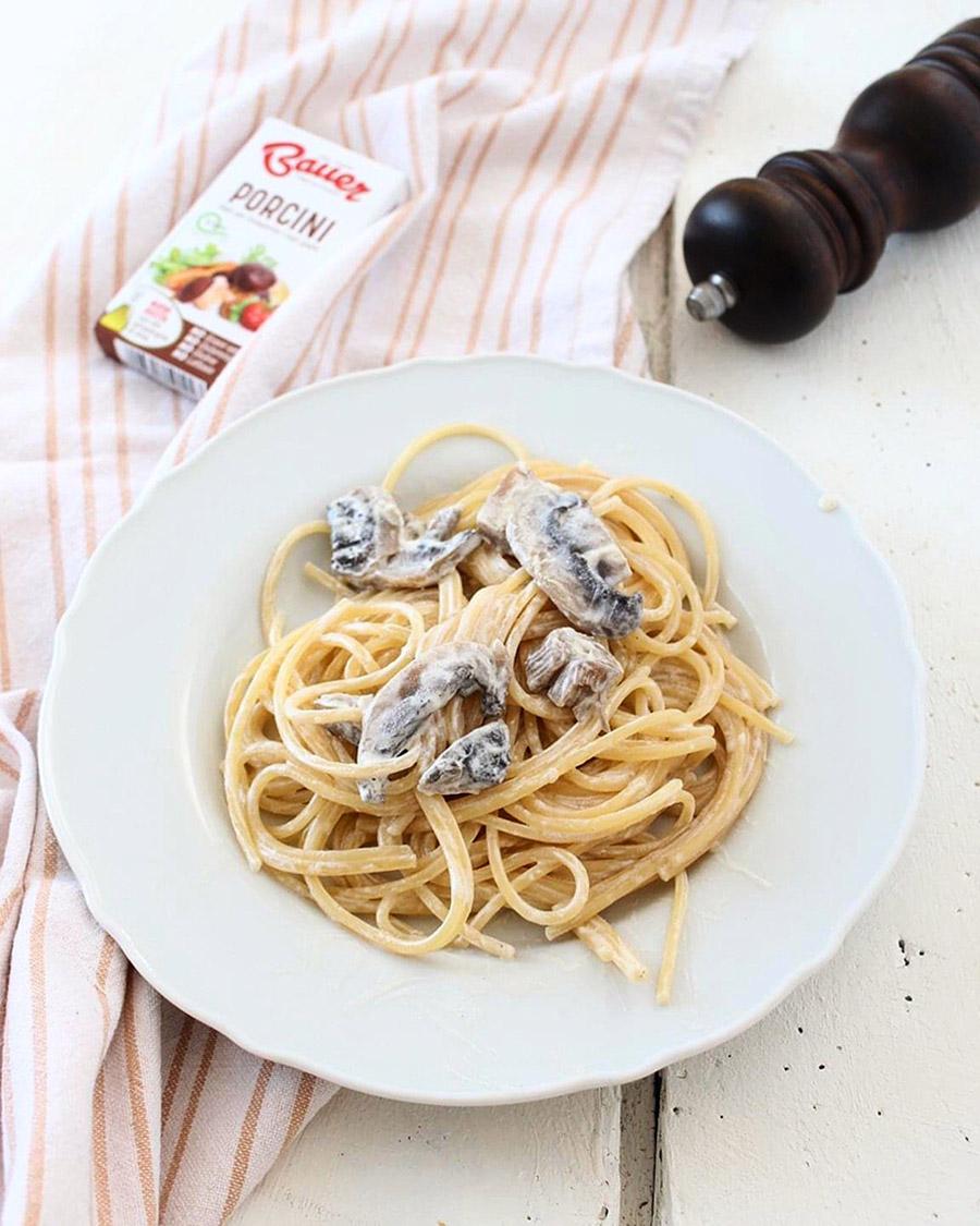 Spaghetti Panna e Funghi